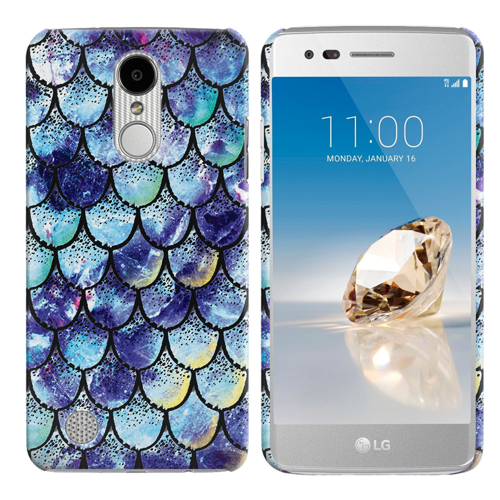 LG Aristo MS210 LV3-LG K8 (2017)-LG Phoenix 3 M150-LG Fortune Purple Mermaid Scales Back Cover Case