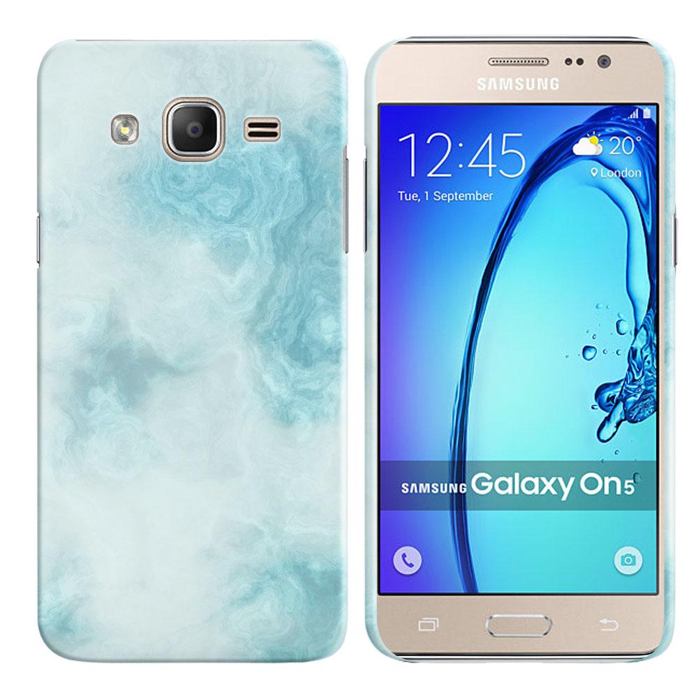 Samsung Galaxy On5 G500-Samsung Galaxy On5 G550 Blue Cloudy Marble Back Cover Case