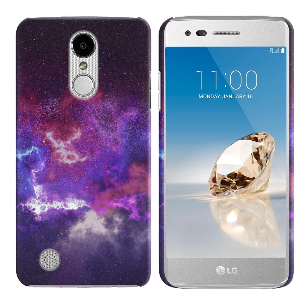 LG Aristo MS210 LV3-LG K8 (2017)-LG Phoenix 3 M150-LG Fortune Purple Nebula Space Back Cover Case
