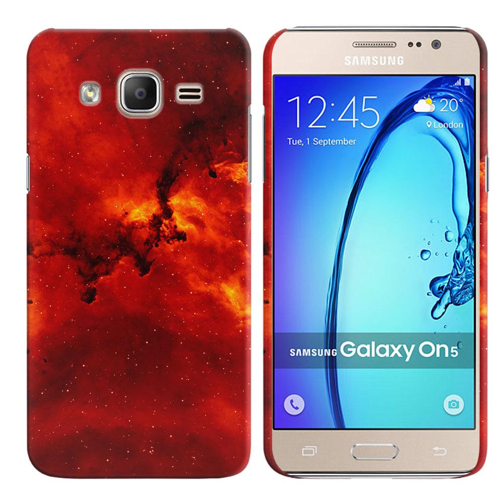 Samsung Galaxy On5 G500-Samsung Galaxy On5 G550 Fiery Galaxy Back Cover Case