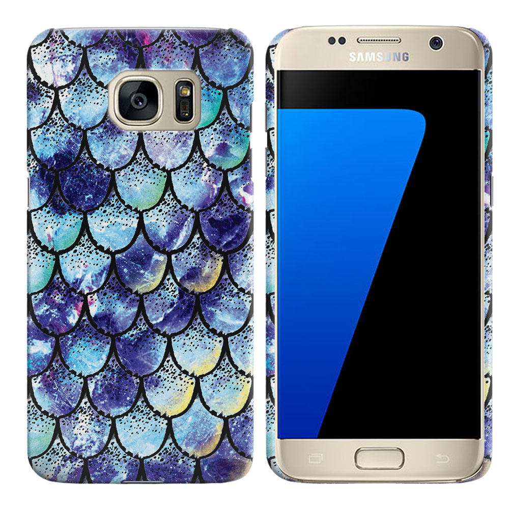 Samsung Galaxy S7 G930 Purple Mermaid Scales Back Cover Case