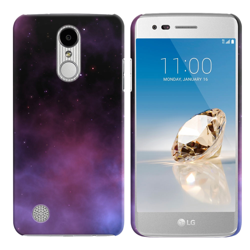 LG Aristo MS210 LV3-LG K8 (2017)-LG Phoenix 3 M150-LG Fortune Purple Space Stars Back Cover Case