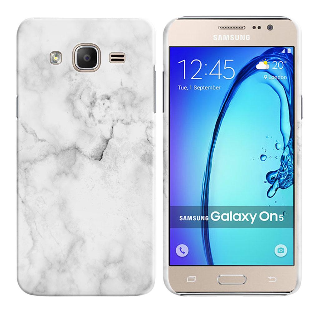 Samsung Galaxy On5 G500-Samsung Galaxy On5 G550 Grey Cloudy Marble Back Cover Case