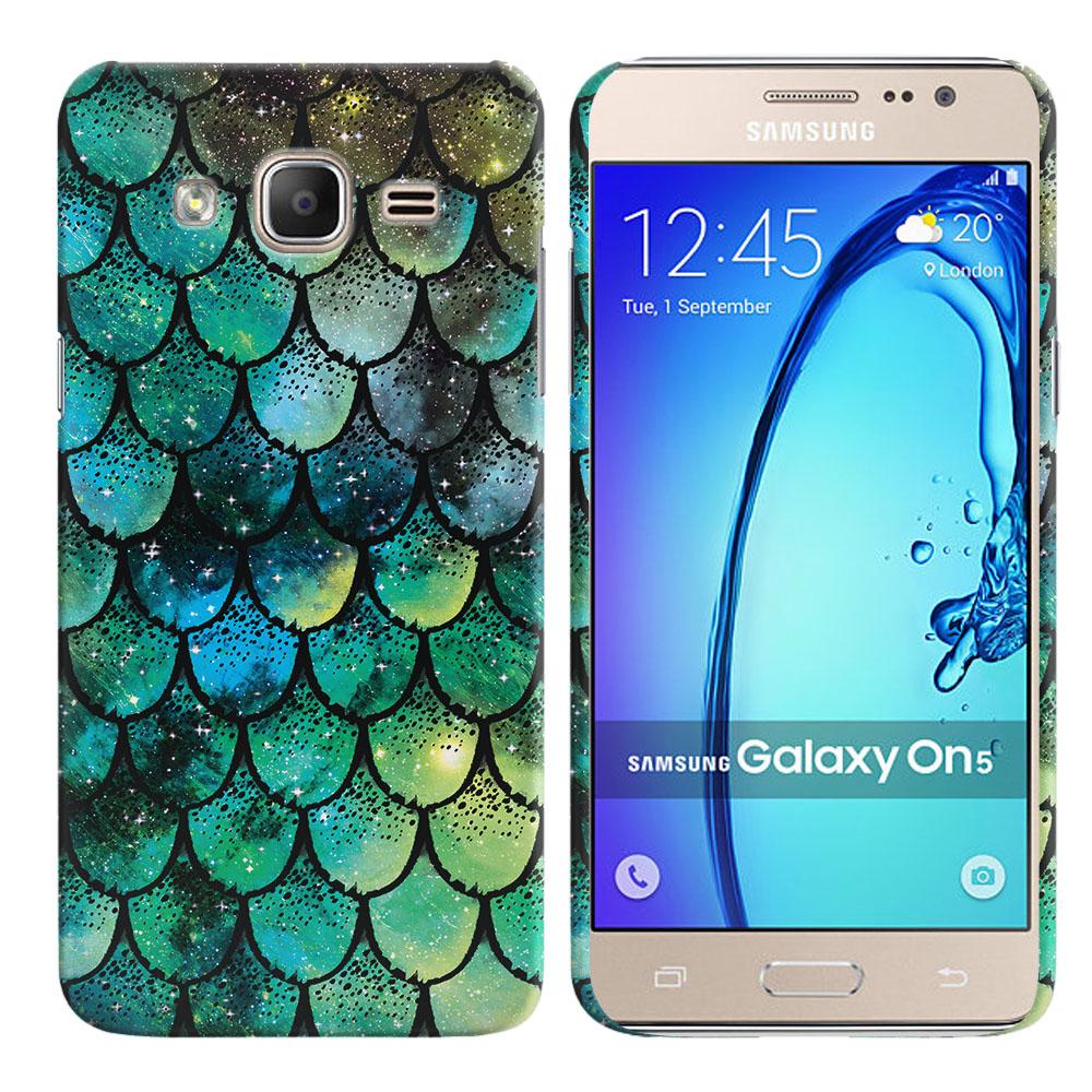Samsung Galaxy On5 G500-Samsung Galaxy On5 G550 Green Mermaid Scales Back Cover Case