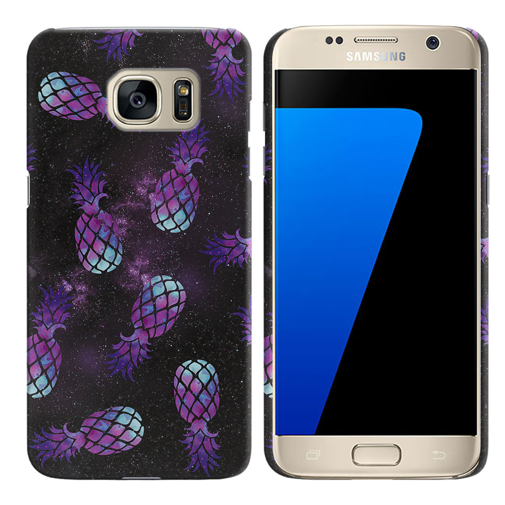 Samsung Galaxy S7 G930 Purple Pineapples Galaxy Back Cover Case