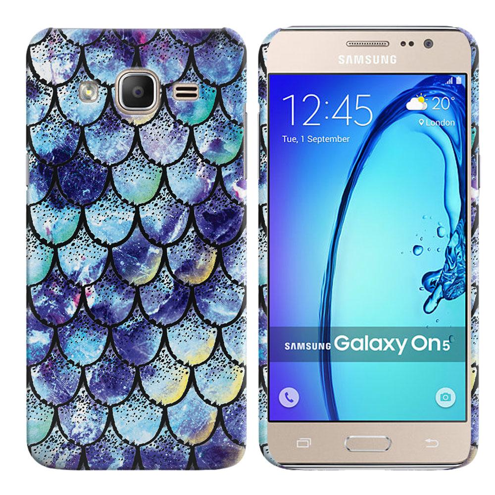 Samsung Galaxy On5 G500-Samsung Galaxy On5 G550 Purple Mermaid Scales Back Cover Case