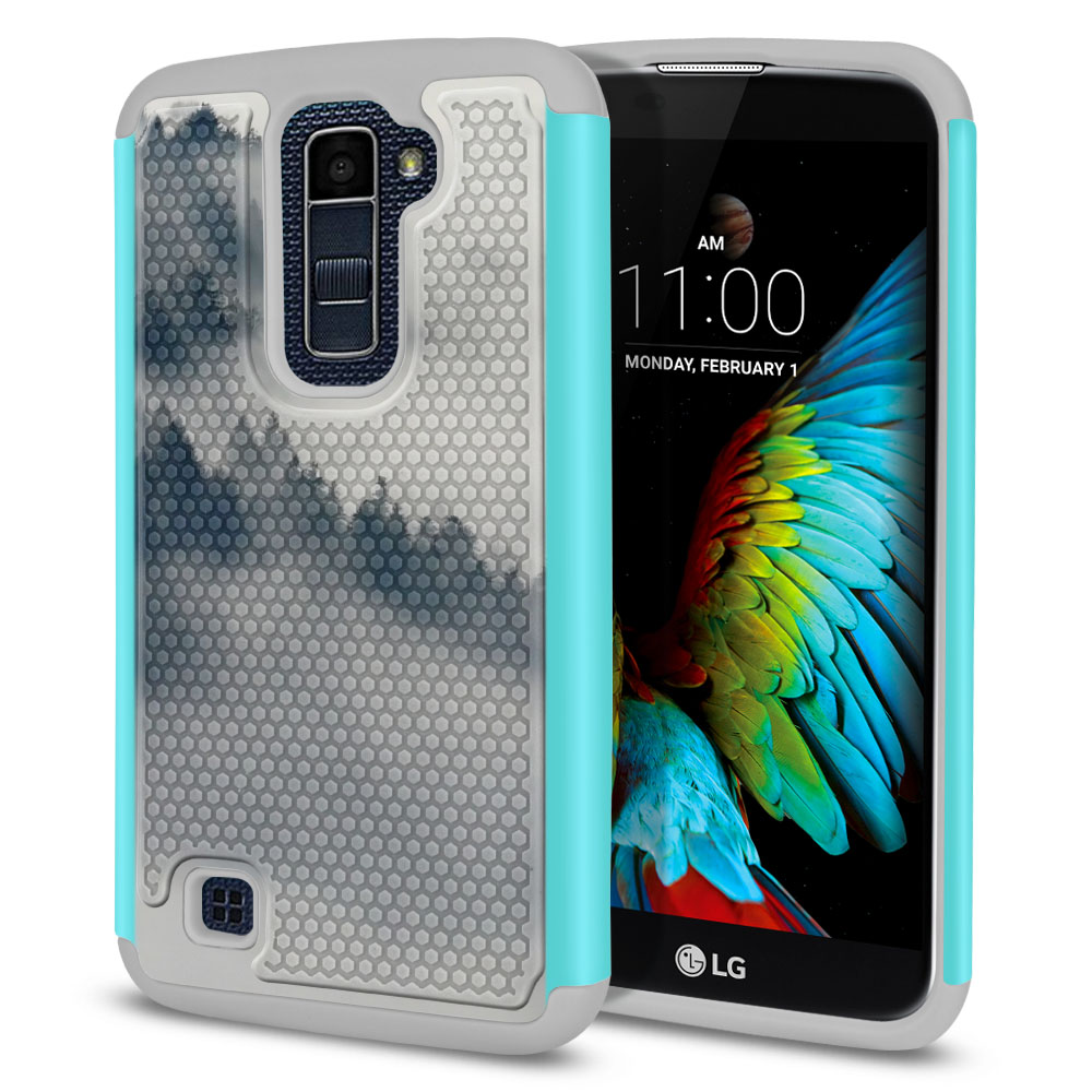 LG K10-LG Premier LTE L62VL L61AL K428 K430 K420 K420N Hybrid Football Skin Winter Trees Protector Cover Case