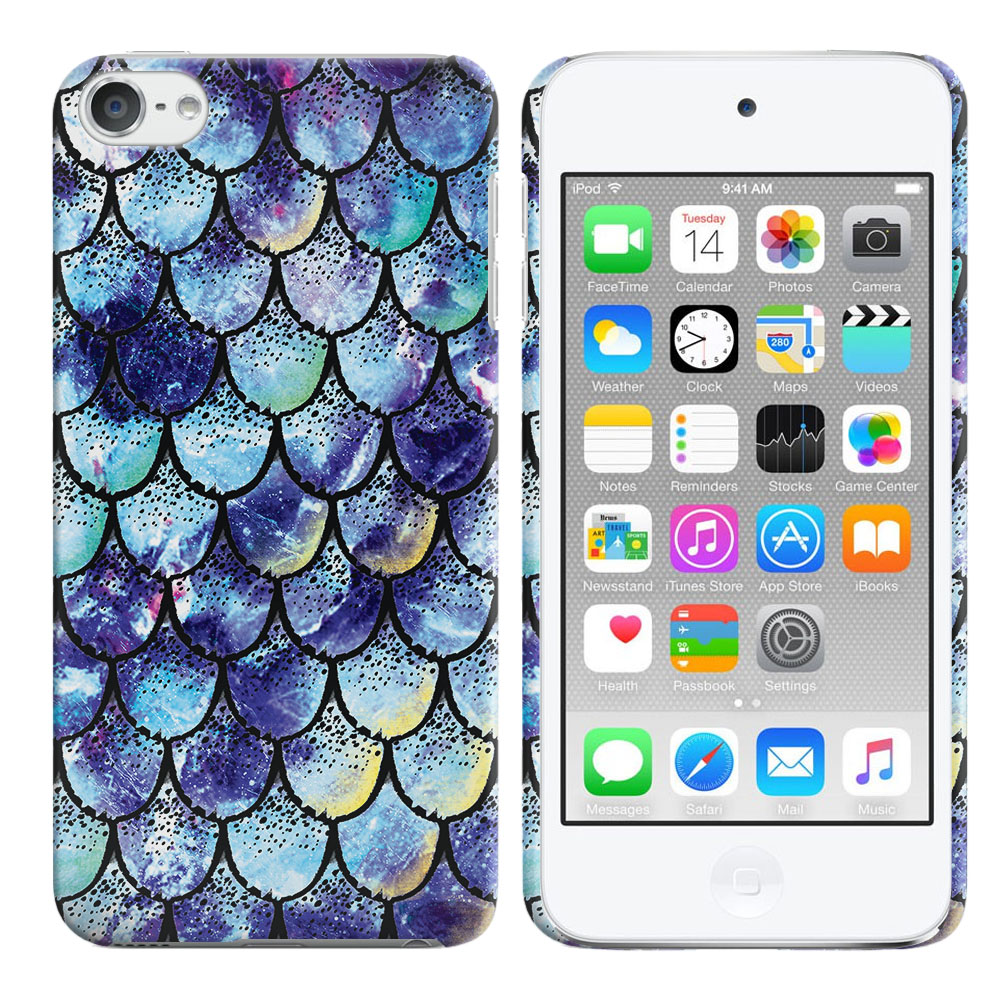 Apple iPod Touch 5 (5th Generation)-Apple iPod Touch 6 (6th Generation) Purple Mermaid Scales Back Cover Case