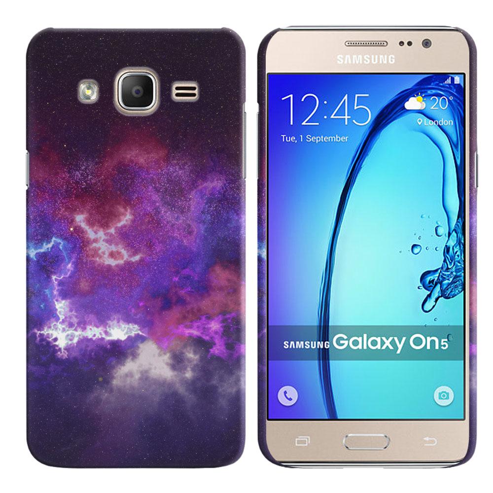 Samsung Galaxy On5 G500-Samsung Galaxy On5 G550 Purple Nebula Space Back Cover Case
