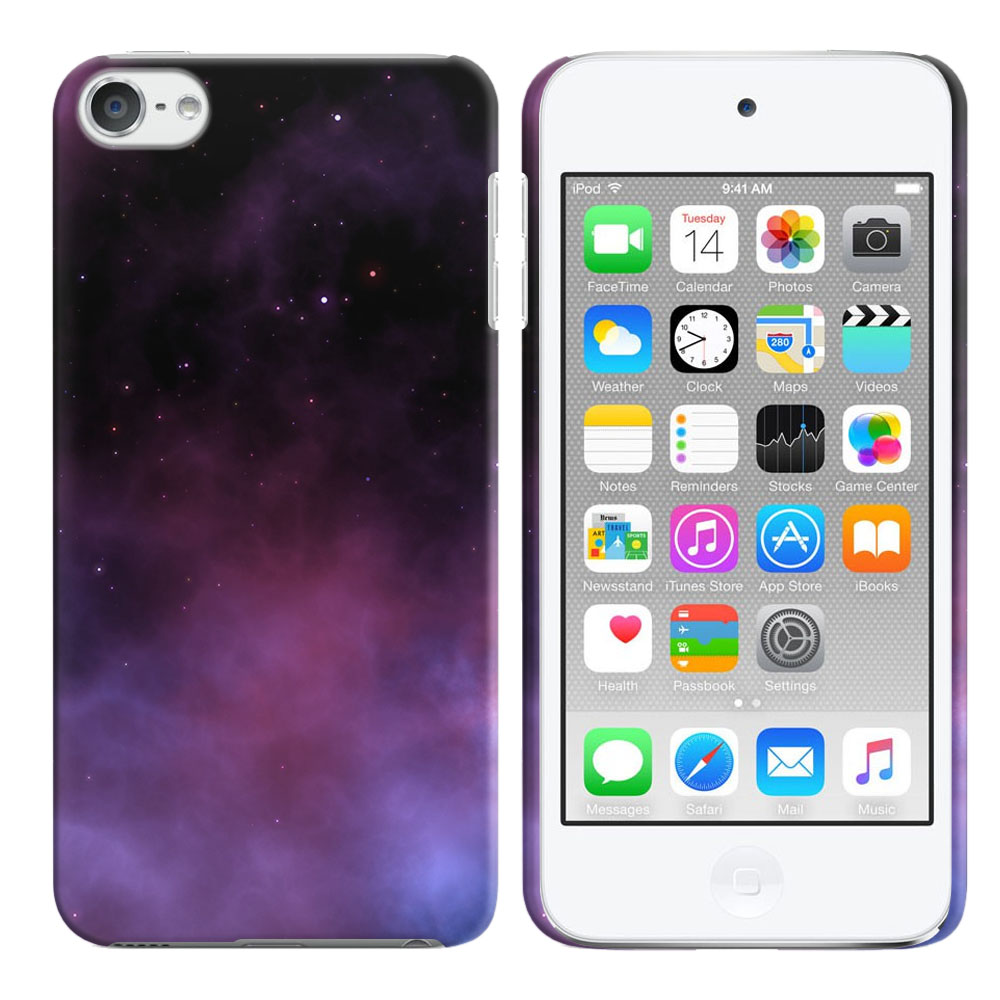 Apple iPod Touch 5 (5th Generation)-Apple iPod Touch 6 (6th Generation) Purple Space Stars Back Cover Case