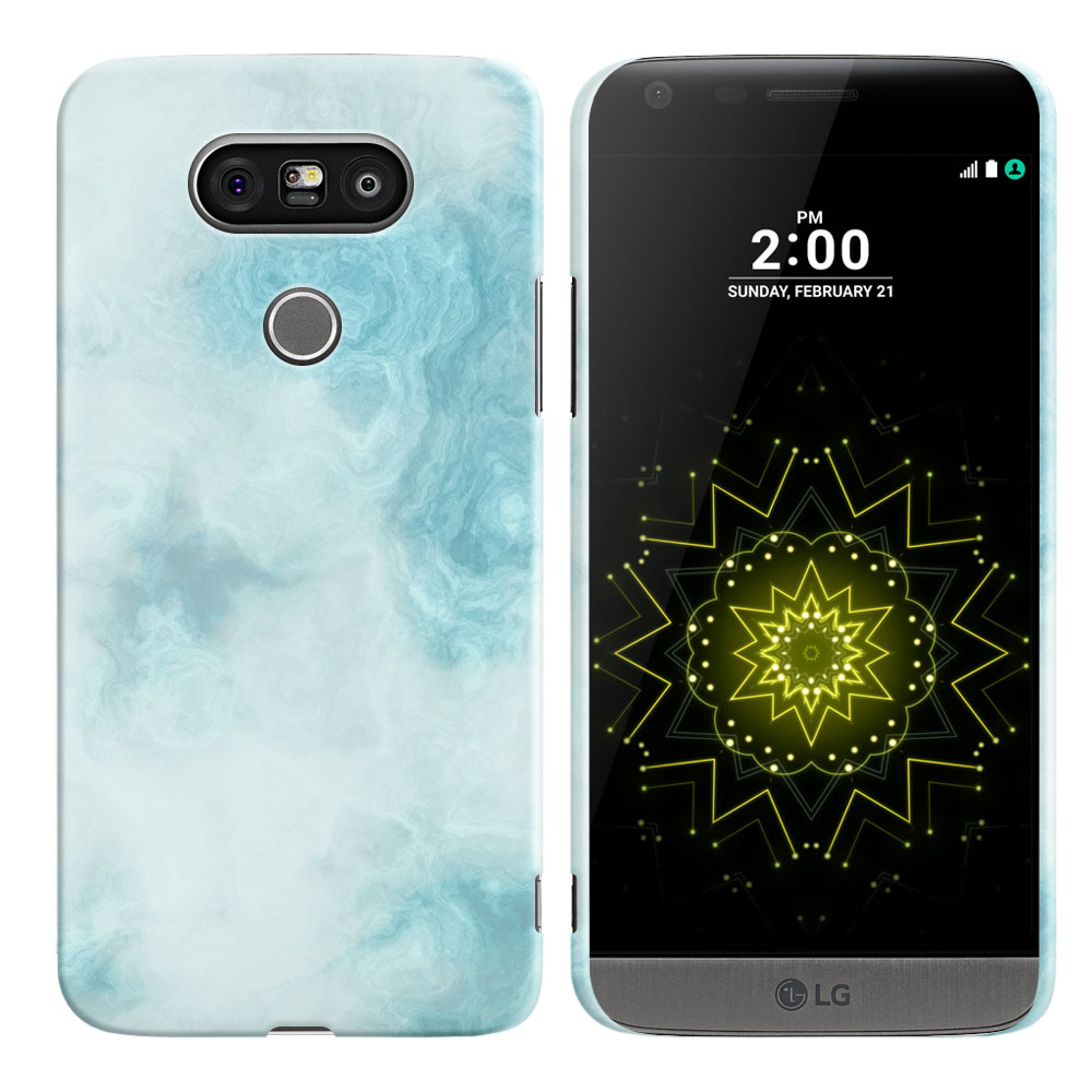 LG G5 H850 VS987 Blue Cloudy Marble Back Cover Case