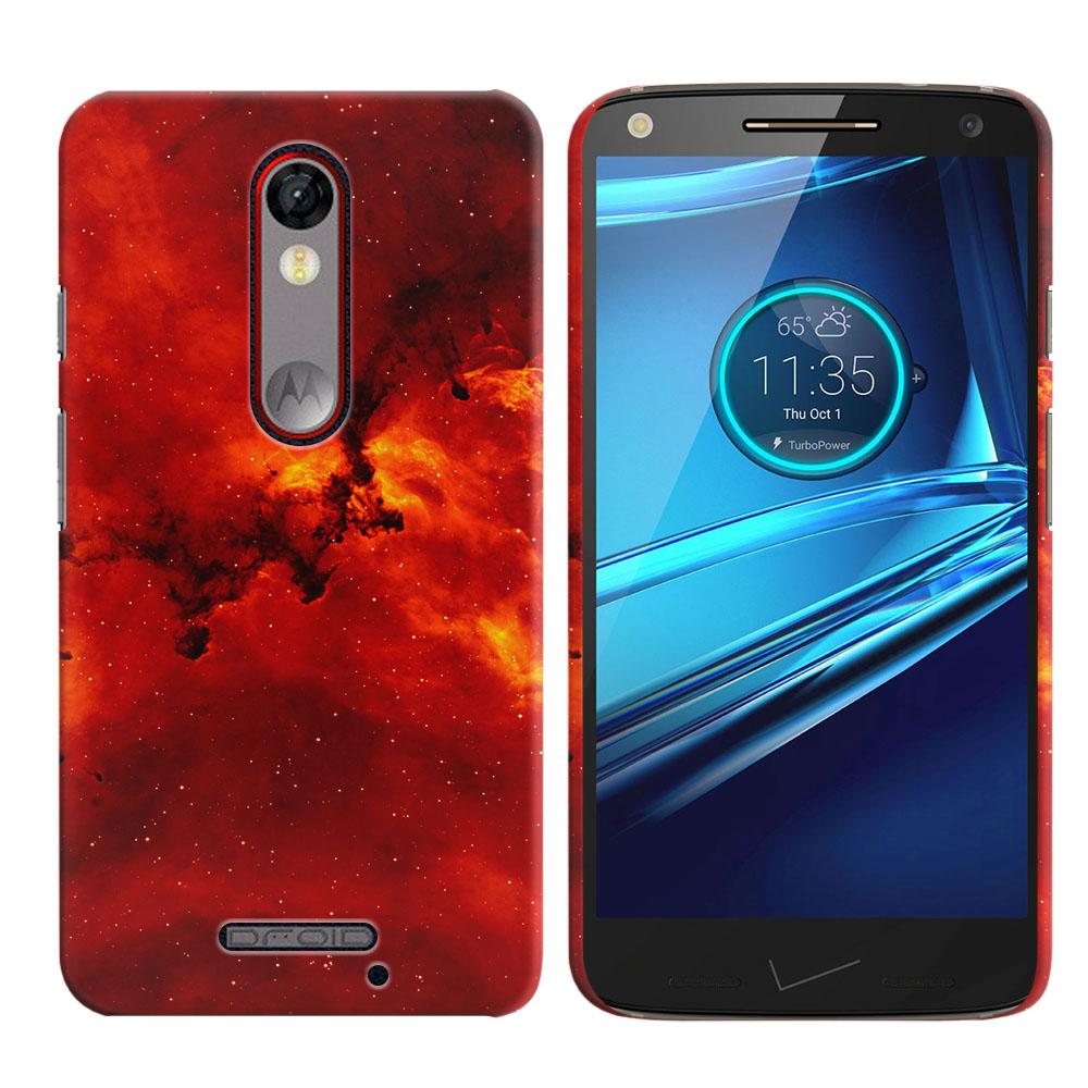 Motorola Droid Turbo 2 Kinzie XT1585-Motorola Moto X Force XT1580 Fiery Galaxy Back Cover Case