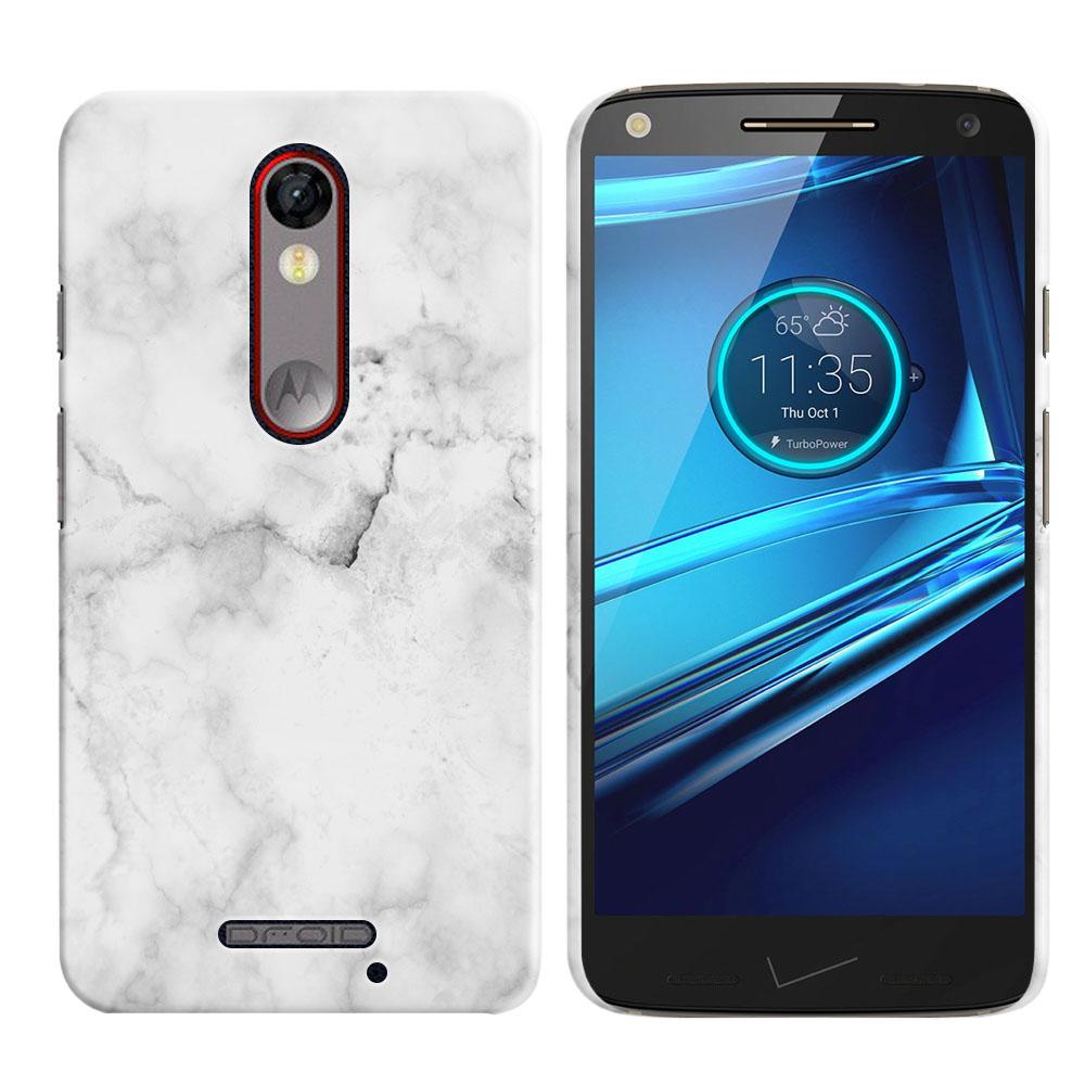 Motorola Droid Turbo 2 Kinzie XT1585-Motorola Moto X Force XT1580 Grey Cloudy Marble Back Cover Case