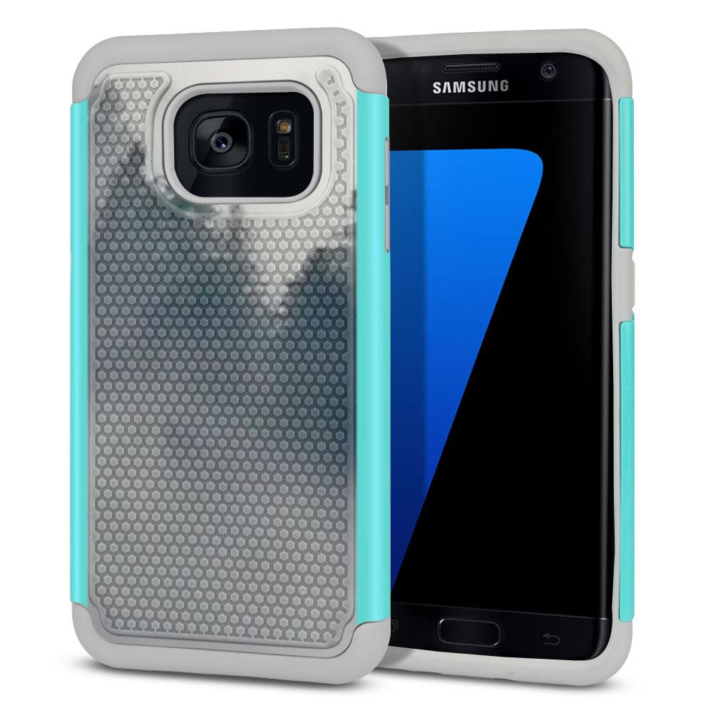 Samsung Galaxy S7 Edge G935 Hybrid Football Skin Winter Trees Protector Cover Case