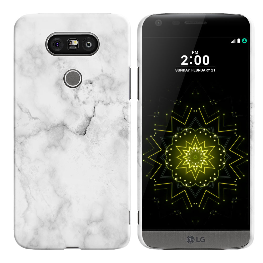 LG G5 H850 VS987 Grey Cloudy Marble Back Cover Case