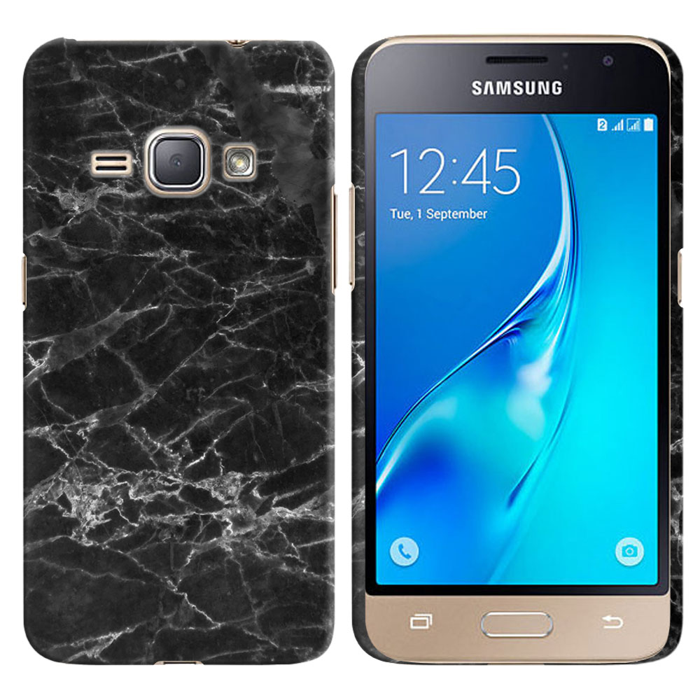 Samsung Galaxy J1 J120 2nd Gen 2016-Samsung Galaxy AMP 2 2nd Gen 2016-Samsung Galaxy Express 3-Samsung Galaxy Luna S120 Black Stone Marble Back Cover Case
