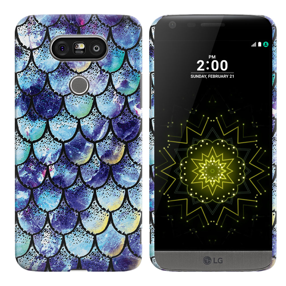 LG G5 H850 VS987 Purple Mermaid Scales Back Cover Case