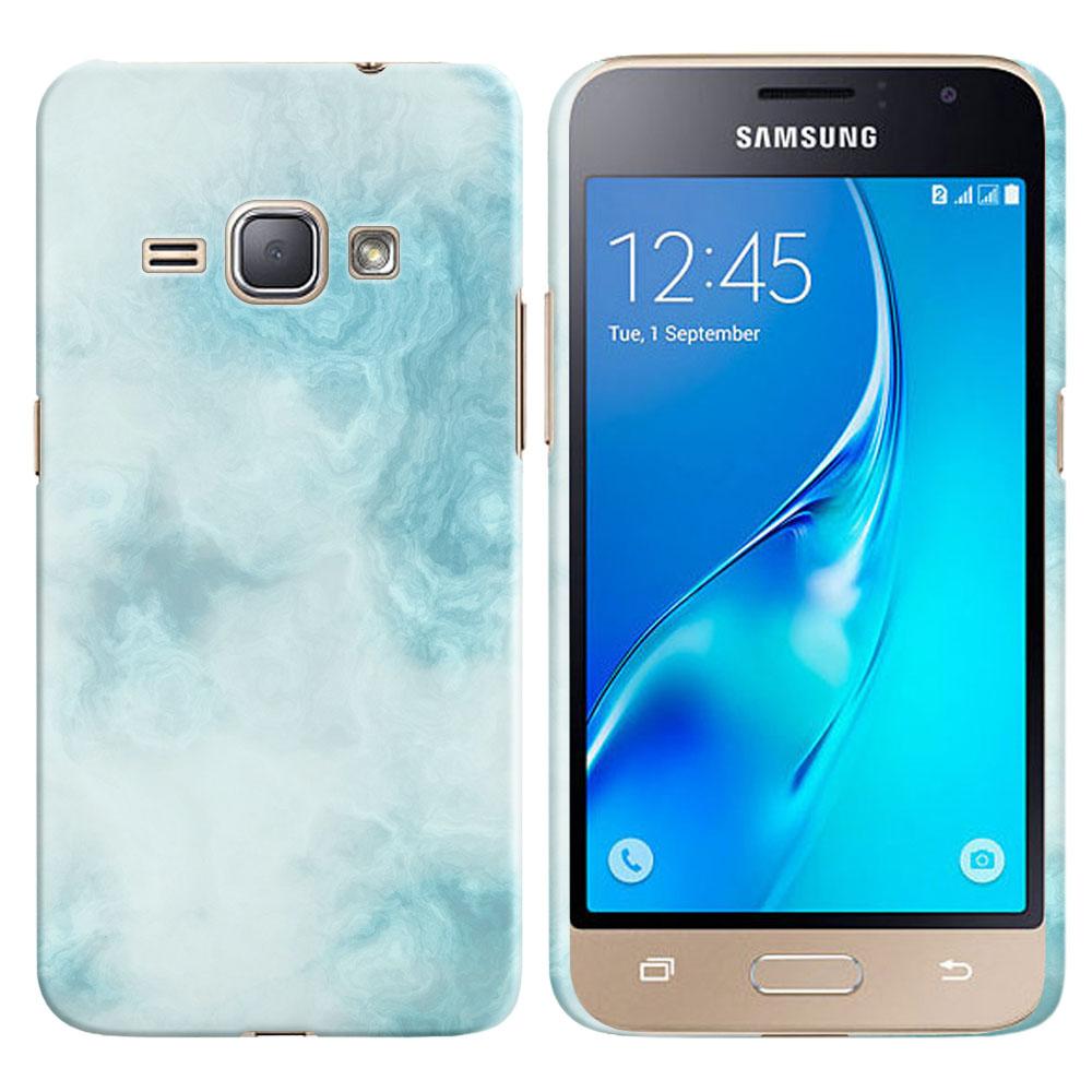 Samsung Galaxy J1 J120 2nd Gen 2016-Samsung Galaxy AMP 2 2nd Gen 2016-Samsung Galaxy Express 3-Samsung Galaxy Luna S120 Blue Cloudy Marble Back Cover Case