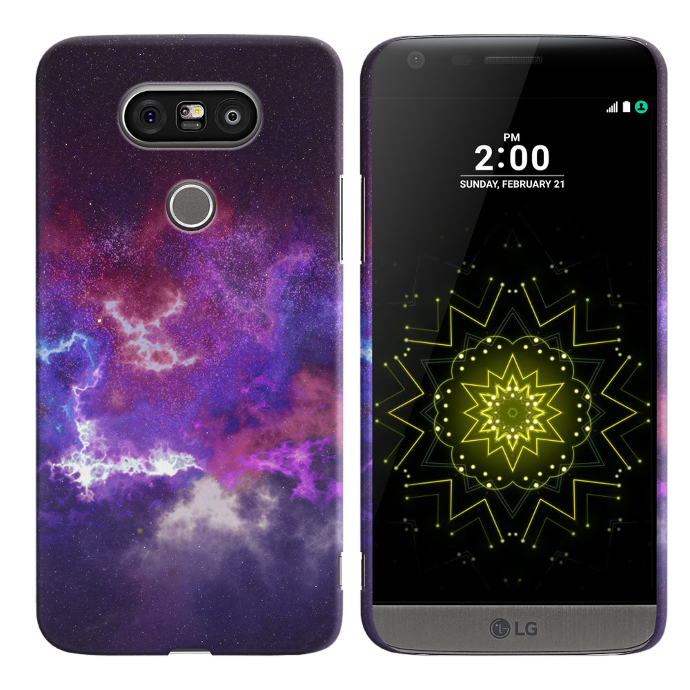 LG G5 H850 VS987 Purple Nebula Space Back Cover Case