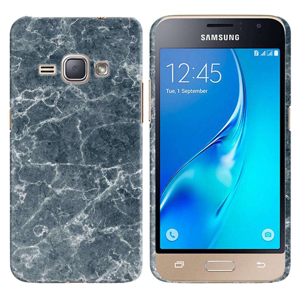 Samsung Galaxy J1 J120 2nd Gen 2016-Samsung Galaxy AMP 2 2nd Gen 2016-Samsung Galaxy Express 3-Samsung Galaxy Luna S120 Blue Stone Marble Back Cover Case