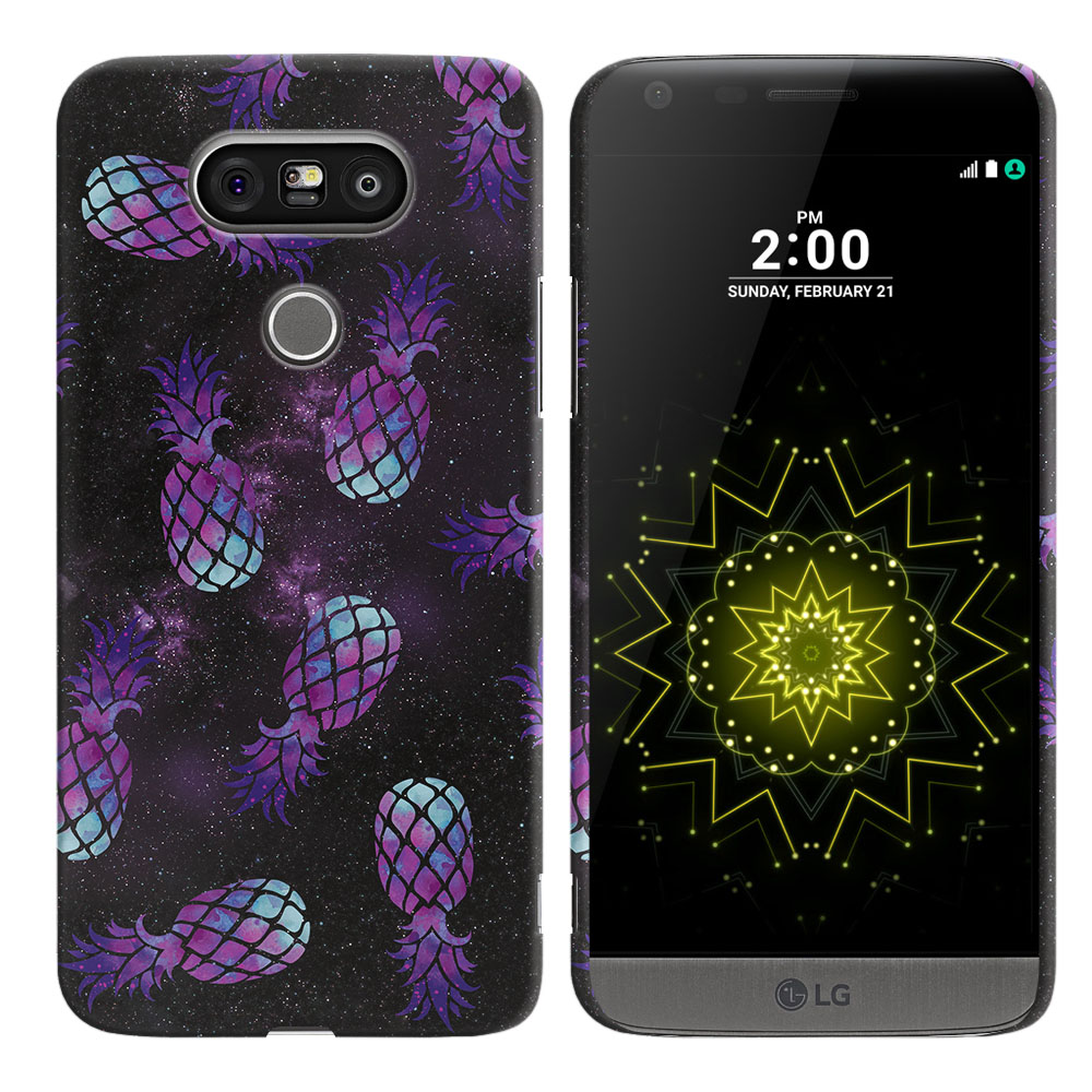 LG G5 H850 VS987 Purple Pineapples Galaxy Back Cover Case