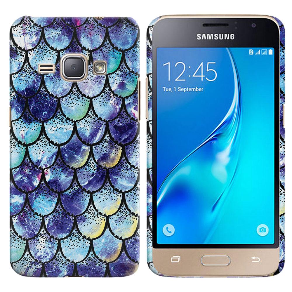 Samsung Galaxy J1 J120 2nd Gen 2016-Samsung Galaxy AMP 2 2nd Gen 2016-Samsung Galaxy Express 3-Samsung Galaxy Luna S120 Purple Mermaid Scales Back Cover Case