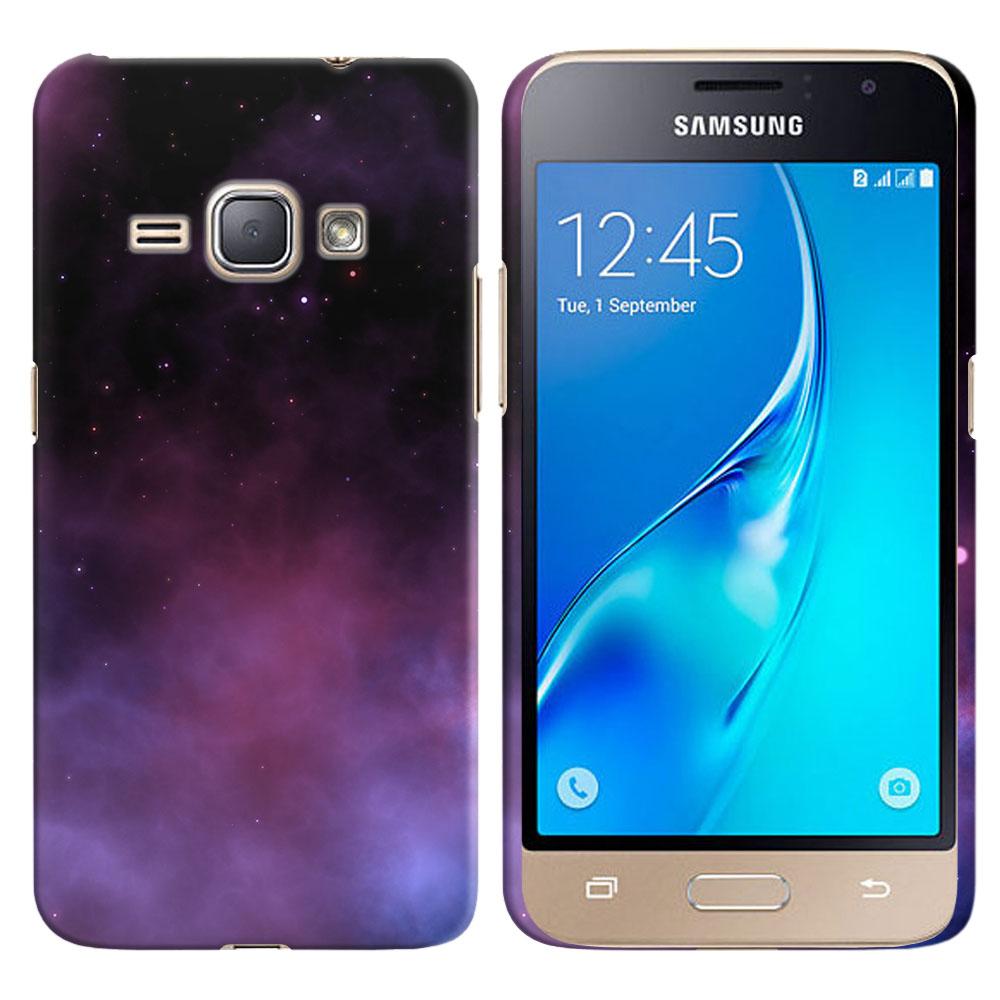 Samsung Galaxy J1 J120 2nd Gen 2016-Samsung Galaxy AMP 2 2nd Gen 2016-Samsung Galaxy Express 3-Samsung Galaxy Luna S120 Purple Space Stars Back Cover Case