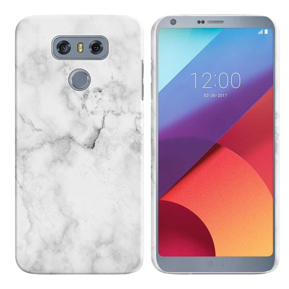 LG G6 H870-H871-H872-H873-US997-LS993-VS998-AS993-G6  Plus US997 Grey Cloudy Marble Back Cover Case