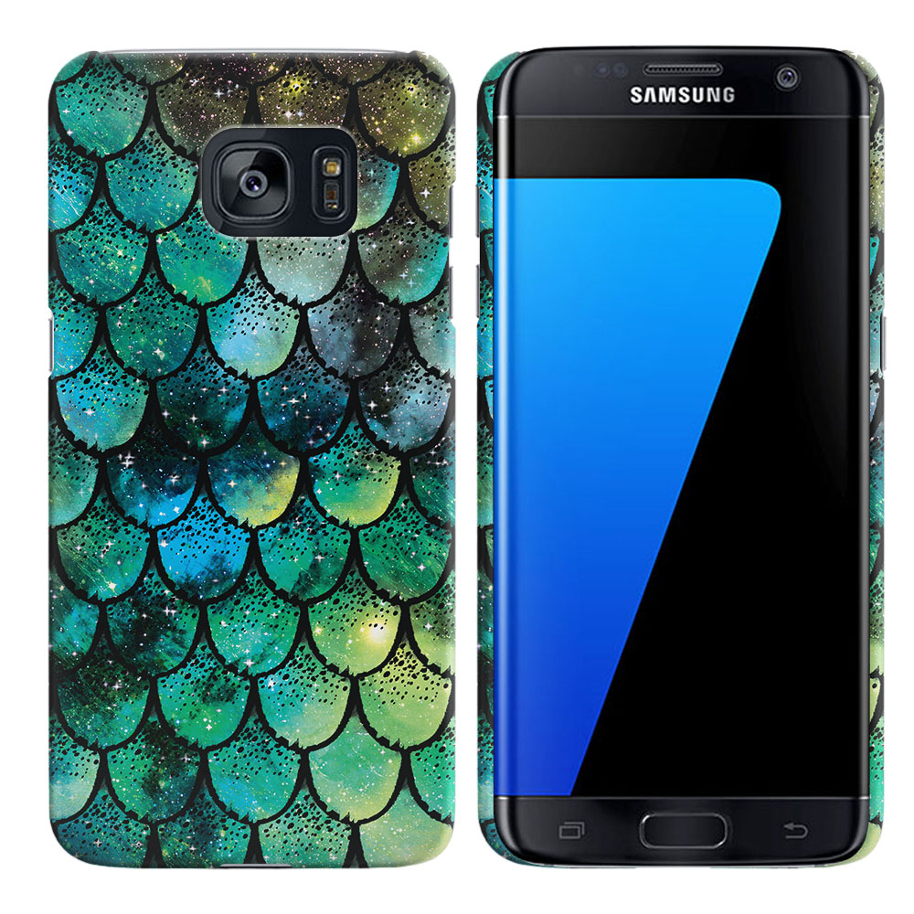 Samsung Galaxy S7 Edge G935 Green Mermaid Scales Back Cover Case