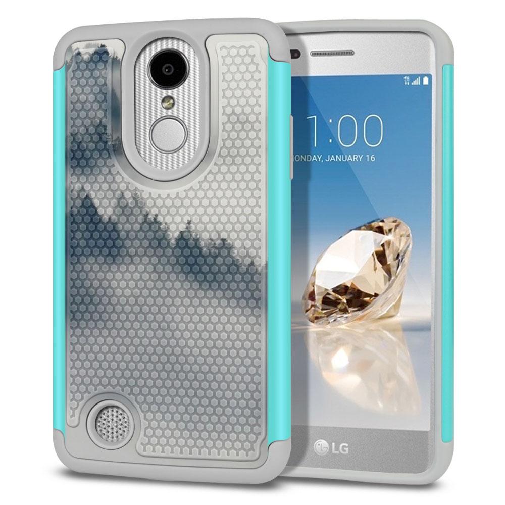 LG Aristo MS210 LV3-LG K8 (2017)-LG Phoenix 3 M150-LG Fortune Hybrid Football Skin Winter Trees Protector Cover Case