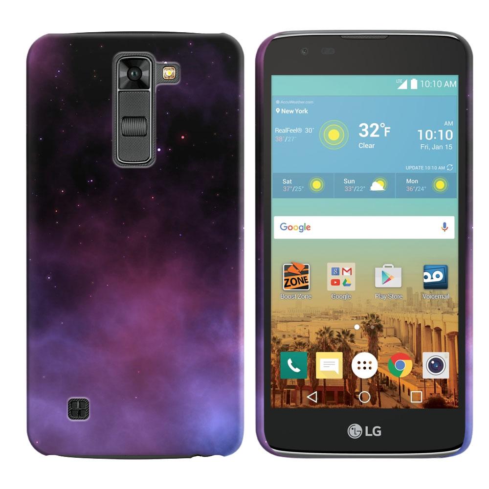 LG K7 Tribute 5 LS675 MS330-LG M1-LG Treasure L51AL L51VL L52AL L52VL Purple Space Stars Back Cover Case
