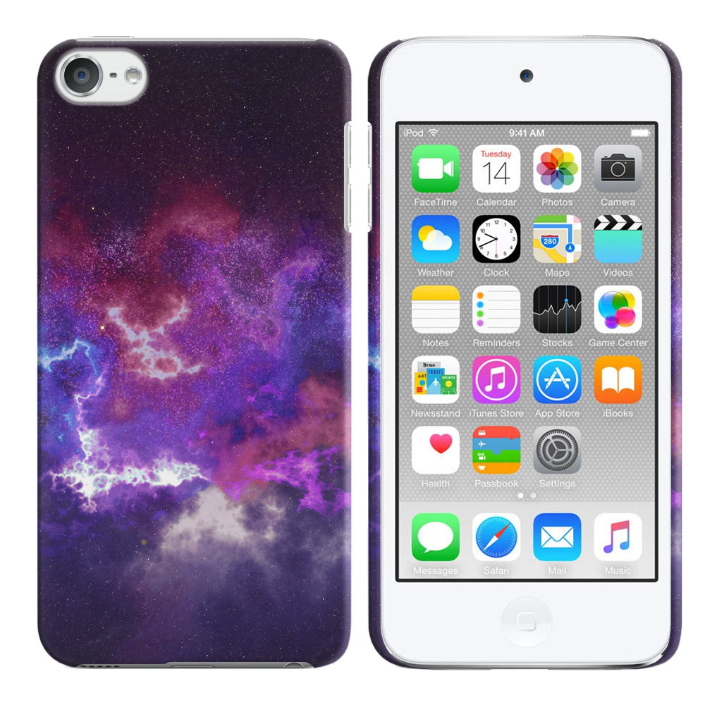 Apple iPod Touch 5 (5th Generation)-Apple iPod Touch 6 (6th Generation) Purple Nebula Space Back Cover Case
