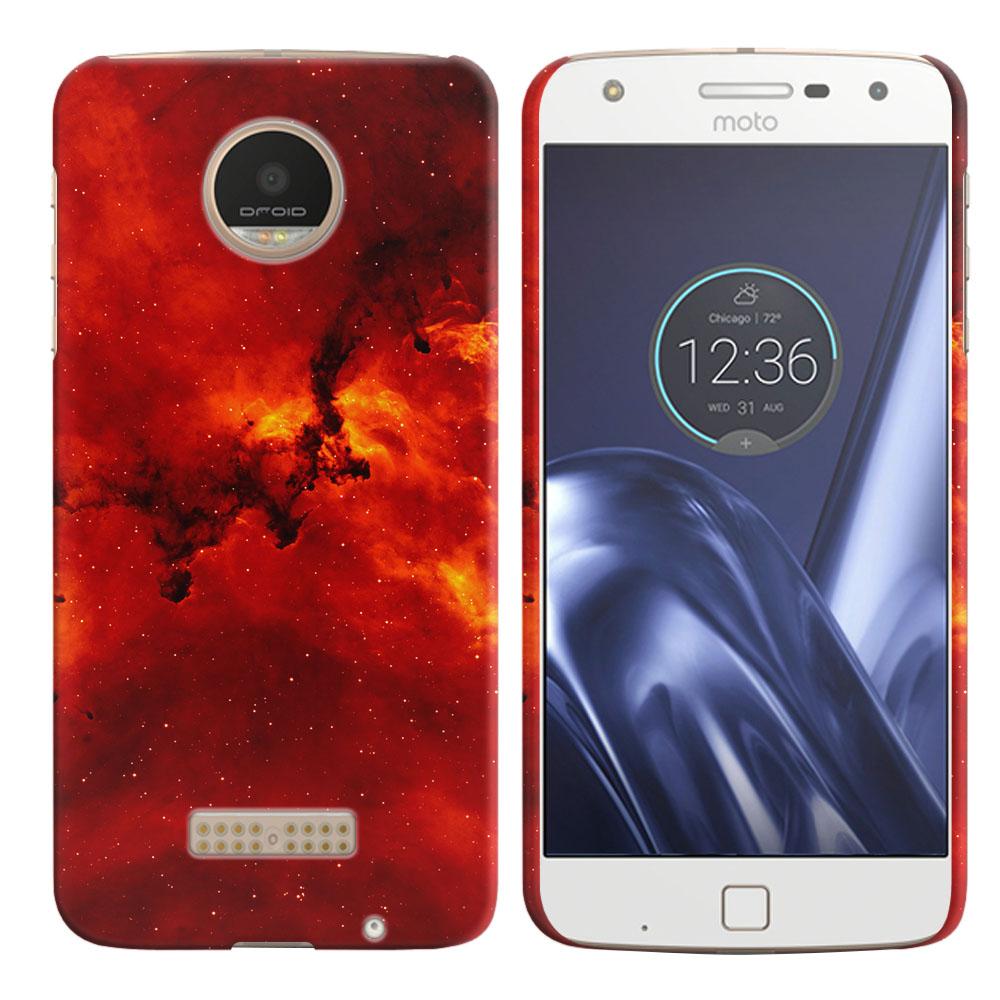 Motorola Moto Z Play Droid XT1635 Fiery Galaxy Back Cover Case