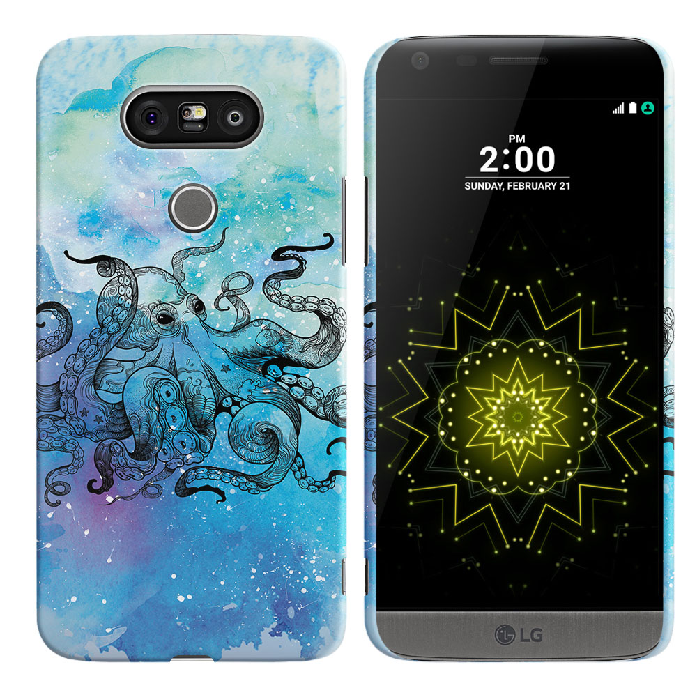 LG G5 H850 VS987 Blue Water Octopus Back Cover Case