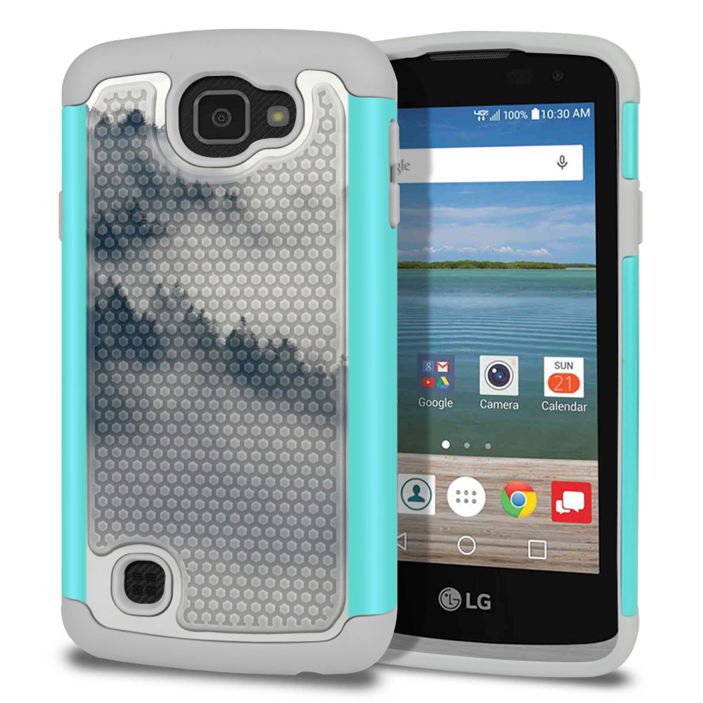 LG Optimus Zone 3 VS425PP-LG Spree K120-LG K4-LG Rebel 4G L44VL L43AL Texture Hybrid Winter Trees Protector Cover Case