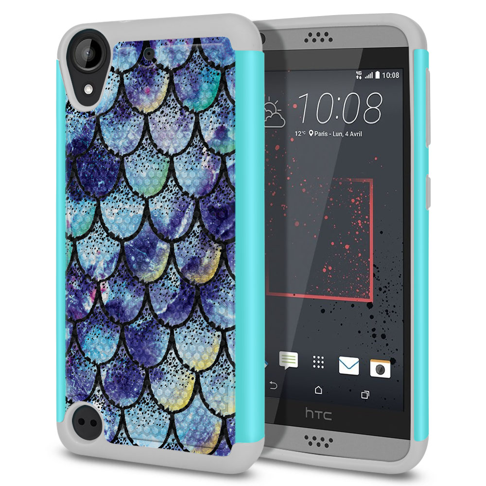 HTC Desire 530 630 Hybrid Football Skin Purple Mermaid Scales Protector Cover Case