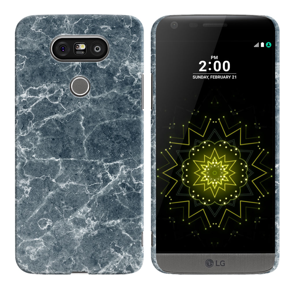 LG G5 H850 VS987 Blue Stone Marble Back Cover Case