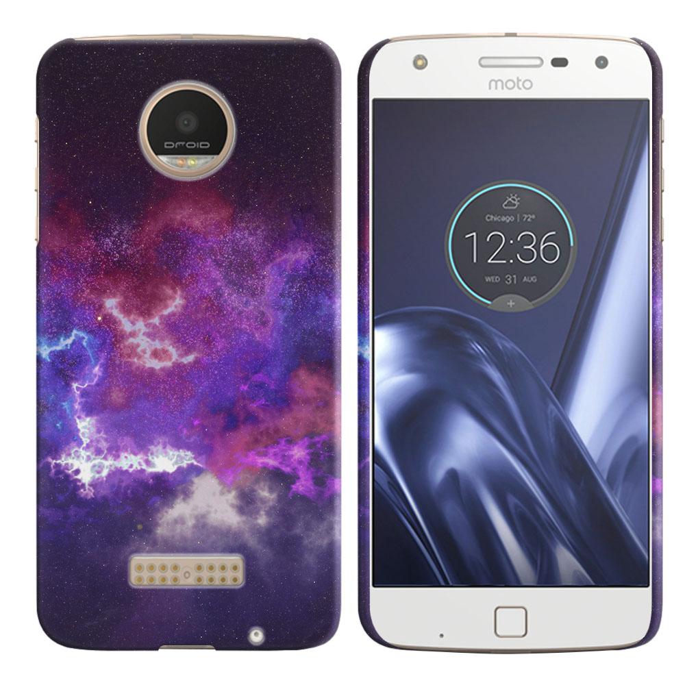 Motorola Moto Z Play Droid XT1635 Purple Nebula Space Back Cover Case