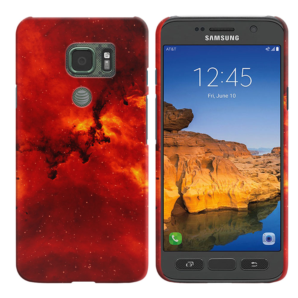 Samsung Galaxy S7 Active G891 Fiery Galaxy Back Cover Case