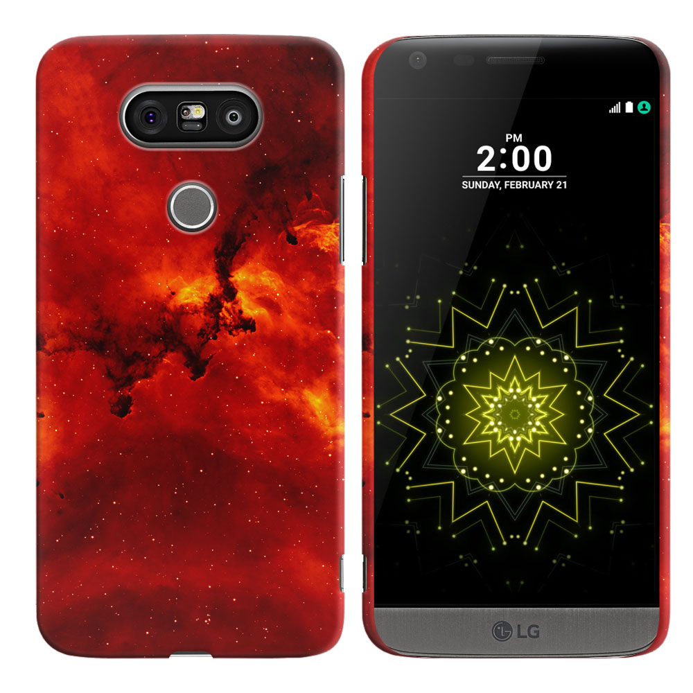 LG G5 H850 VS987 Fiery Galaxy Back Cover Case