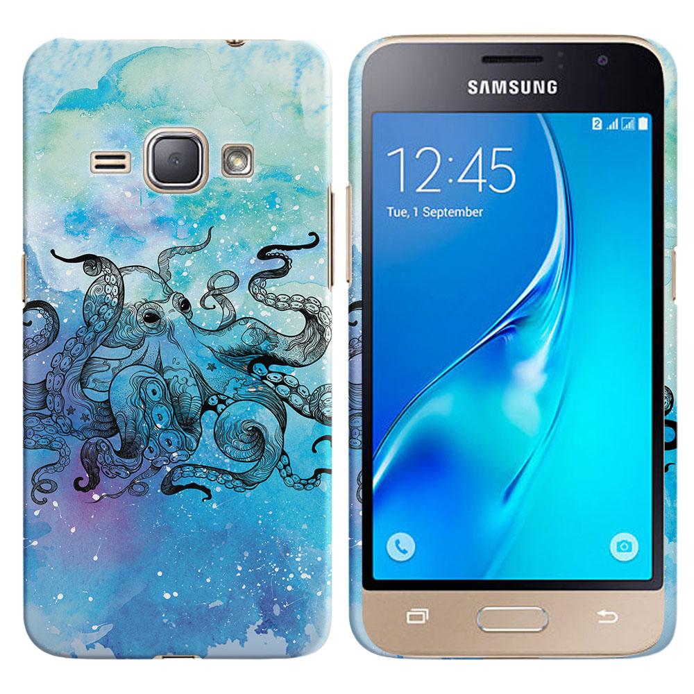 Samsung Galaxy J1 J120 2nd Gen 2016-Samsung Galaxy AMP 2 2nd Gen 2016-Samsung Galaxy Express 3-Samsung Galaxy Luna S120 Blue Water Octopus Back Cover Case