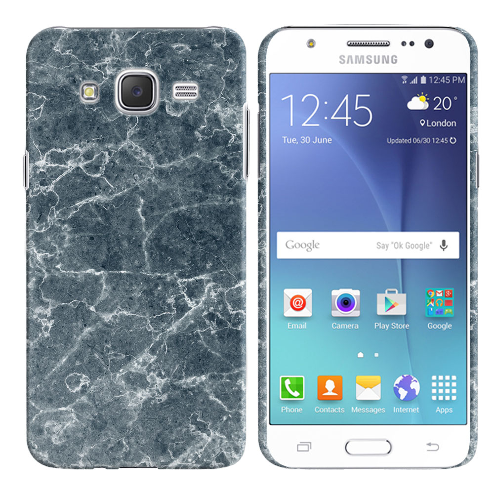 Samsung Galaxy J7 J700 Blue Stone Marble Back Cover Case