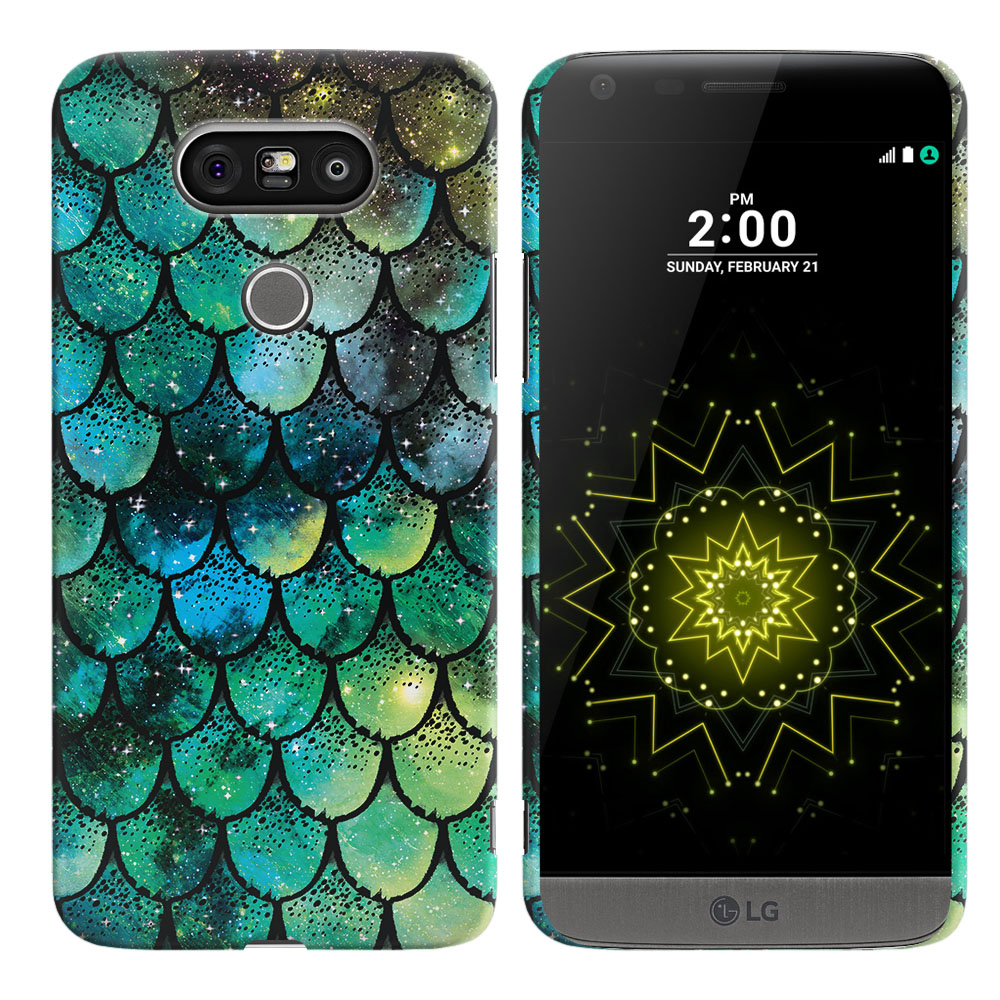 LG G5 H850 VS987 Green Mermaid Scales Back Cover Case
