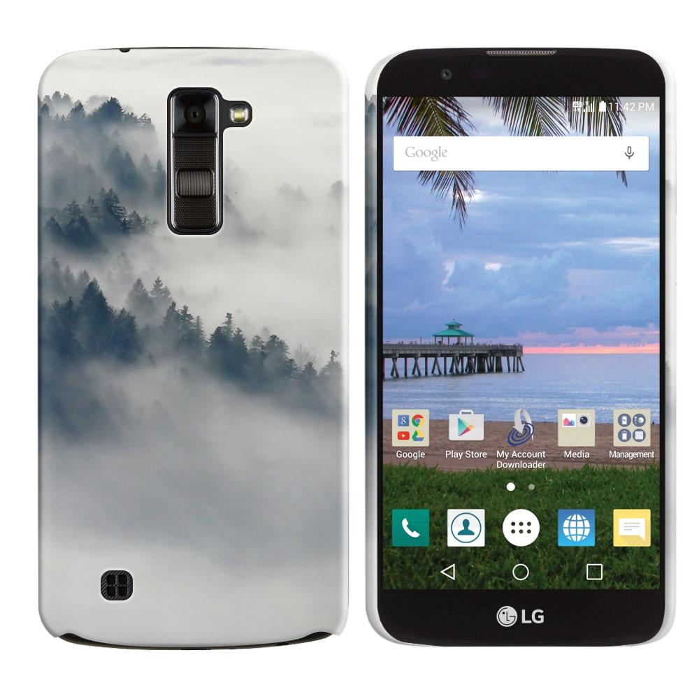 LG K10-LG Premier LTE L62VL L61AL K428 K430 K420 K420N Winter Trees Back Cover Case