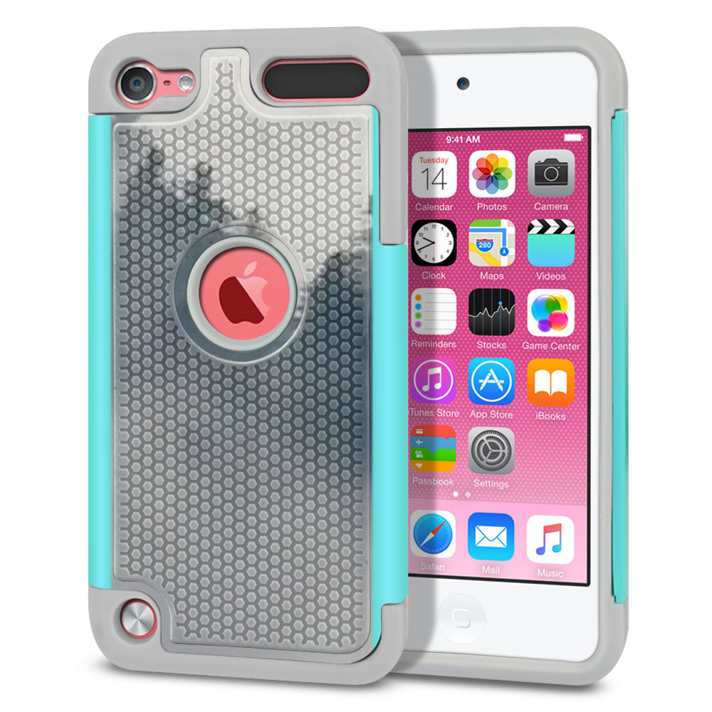 Apple iPod Touch 5 (5th Generation)-Apple iPod Touch 6 (6th Generation) Hybrid Football Skin Winter Trees Protector Cover Case