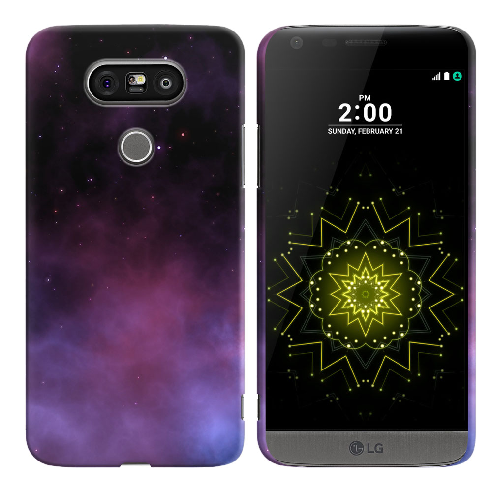 LG G5 H850 VS987 Purple Space Stars Back Cover Case