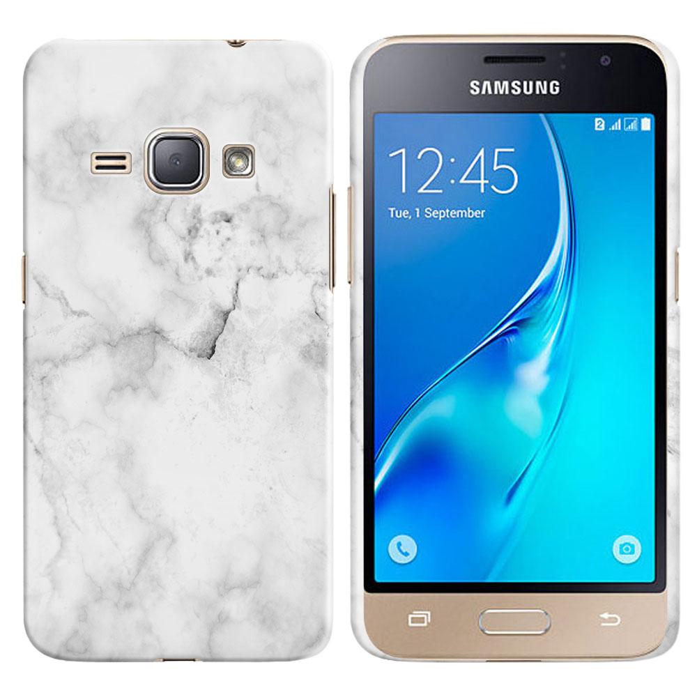 Samsung Galaxy J1 J120 2nd Gen 2016-Samsung Galaxy AMP 2 2nd Gen 2016-Samsung Galaxy Express 3-Samsung Galaxy Luna S120 Grey Cloudy Marble Back Cover Case