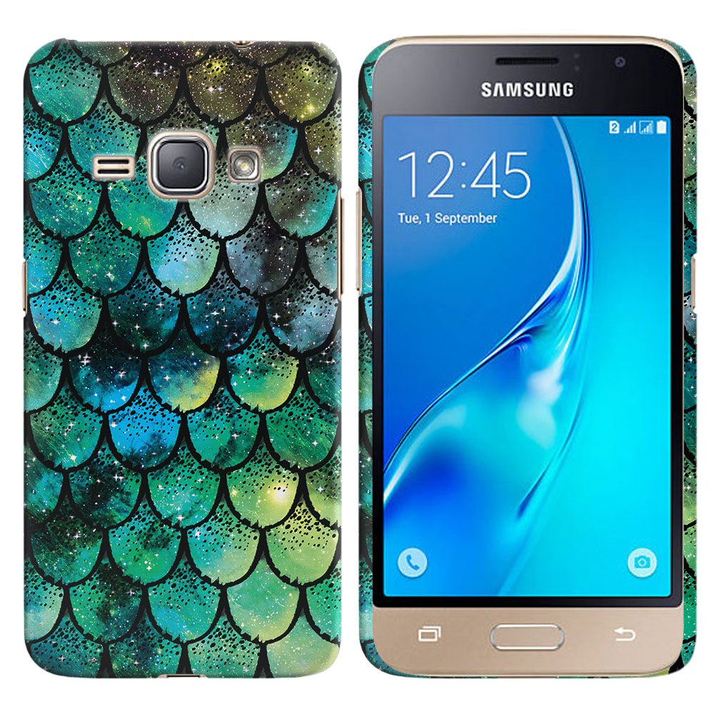 Samsung Galaxy J1 J120 2nd Gen 2016-Samsung Galaxy AMP 2 2nd Gen 2016-Samsung Galaxy Express 3-Samsung Galaxy Luna S120 Green Mermaid Scales Back Cover Case