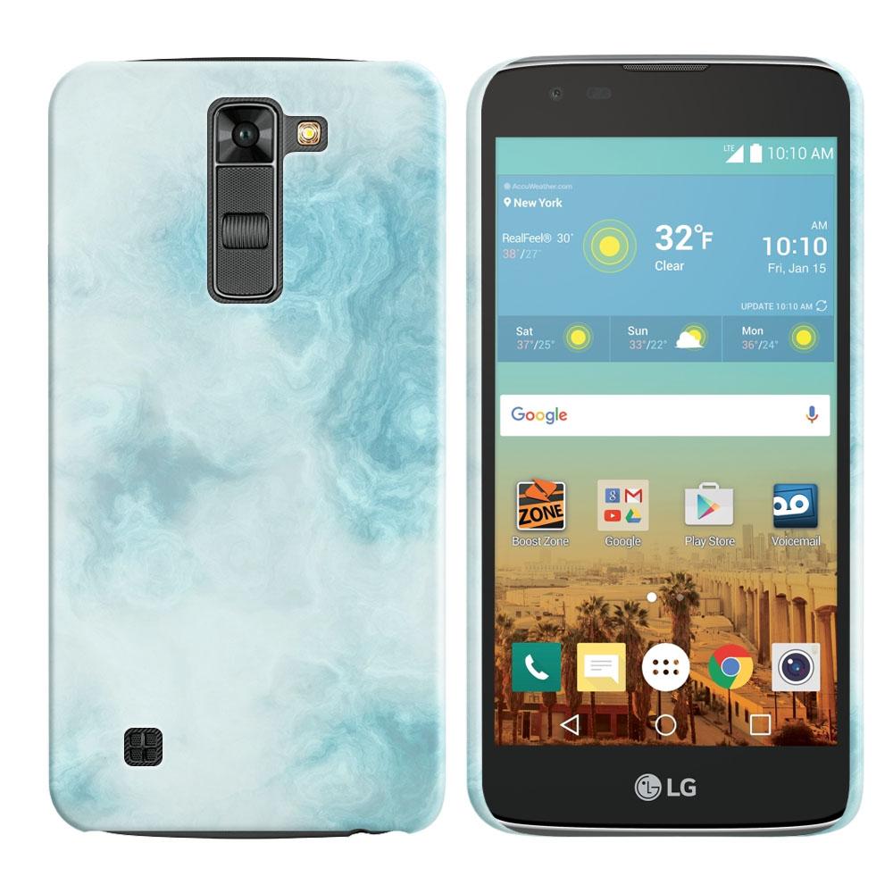 LG K7 Tribute 5 LS675 MS330-LG M1-LG Treasure L51AL L51VL L52AL L52VL Blue Cloudy Marble Back Cover Case