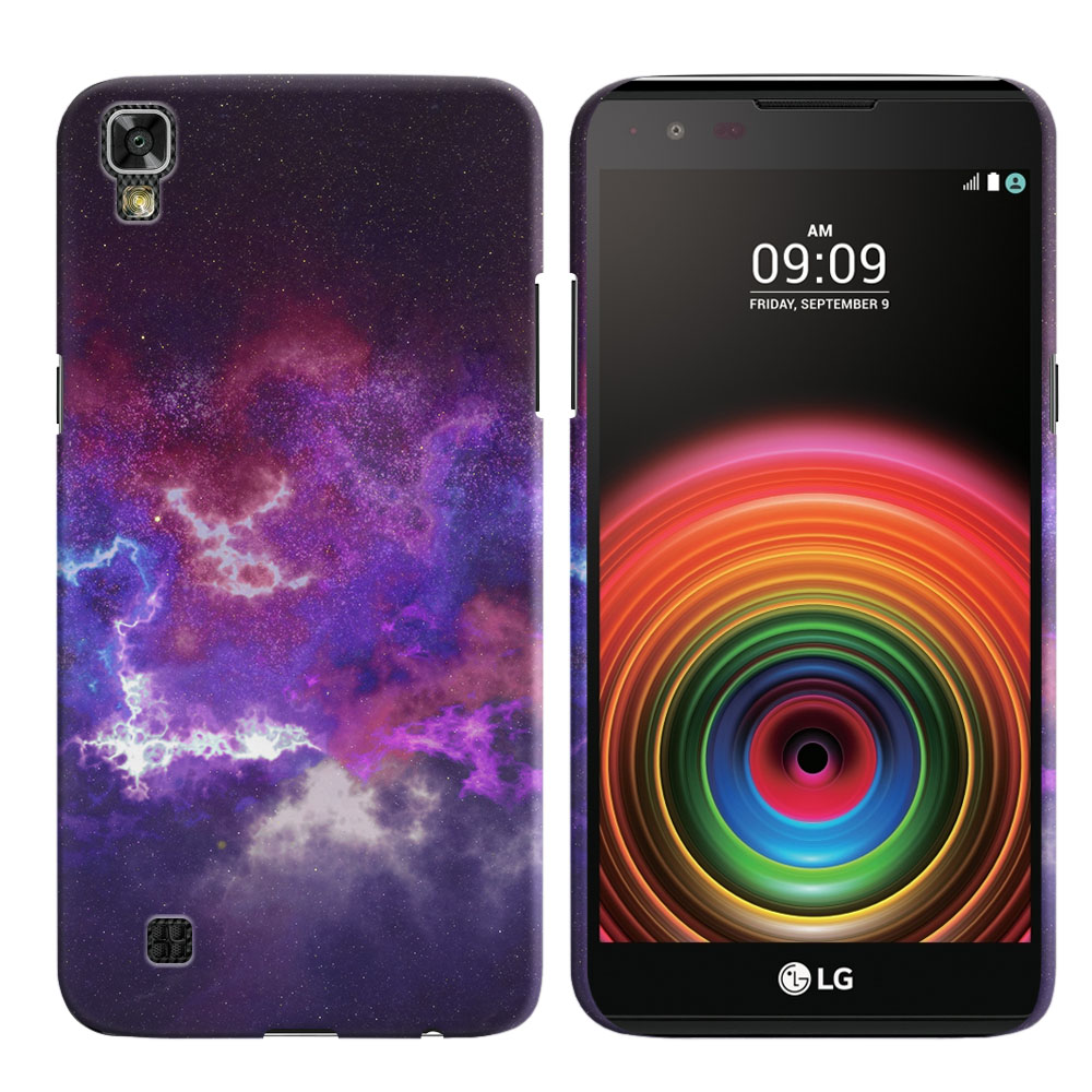 LG X Power K6 K6P-LG K450 K210 K220-LG US610-LG LS755 Purple Nebula Space Back Cover Case